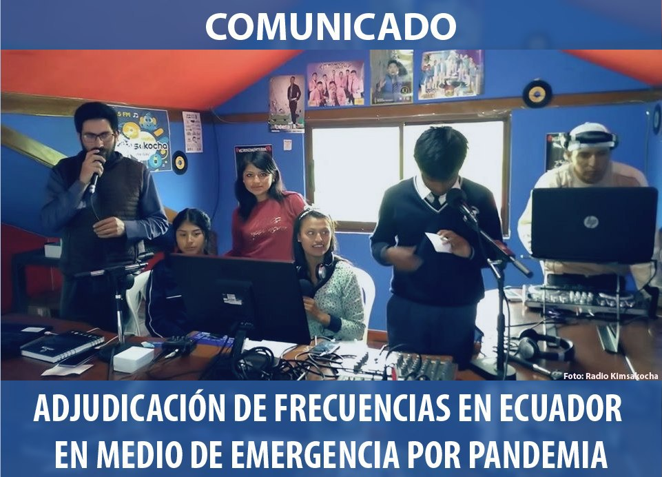 ADJUDICACIÓN DE FRECUENCIAS EN ECUADOR  EN MEDIO DE EMERGENCIA POR PANDEMIA