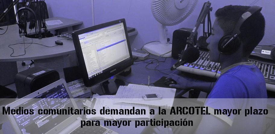 Coalición de medios comunitarios demanda a ARCOTEL mayor plazo para mayor participación en proceso adjudicación de radios